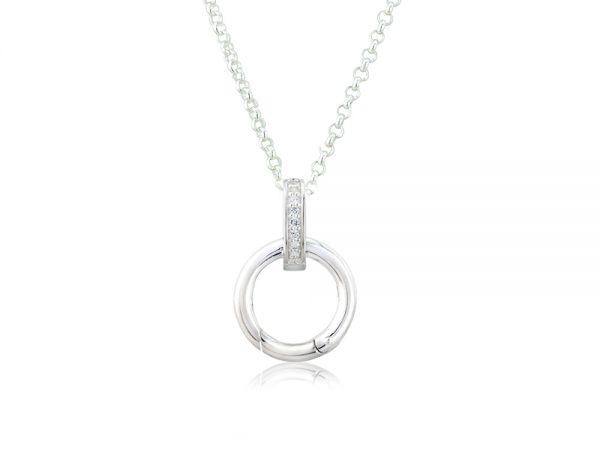 sparkly charm carrier pendant