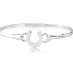 Diamond Horseshoe Bangle