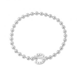 t bar horseshoe bracelet