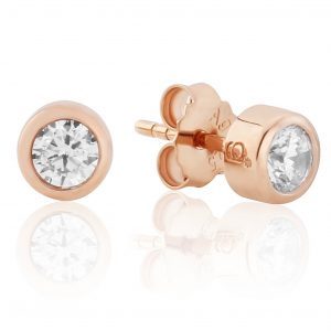 Rose Gold Sparkle Stud