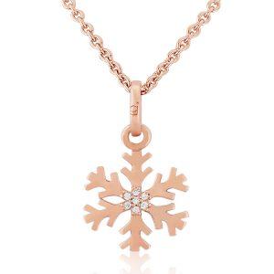 rose gold snowflake pendant