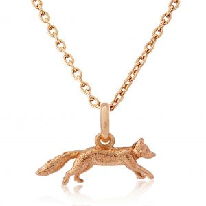 Rose Gold Mr Fox Pendant