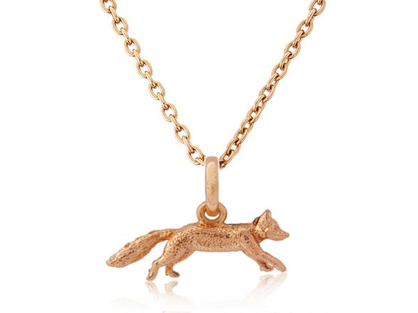 Rose Gold Mr Fox Pendant