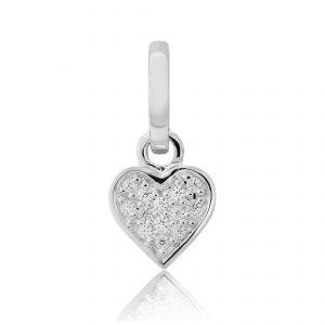 Sparkly Heart Charm