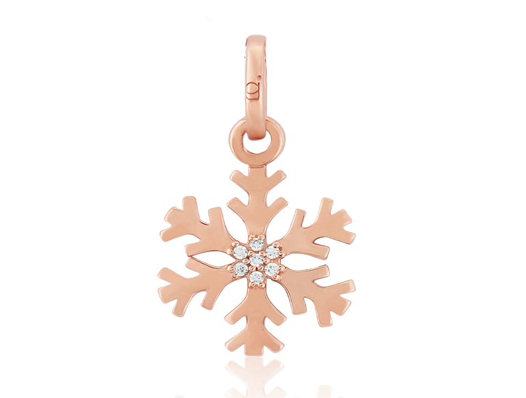 Rose Gold Snowflake Charm