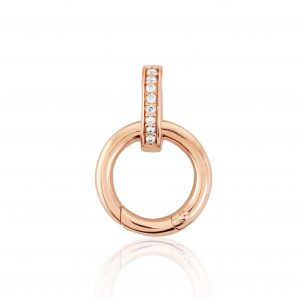 rose gold charm carrier