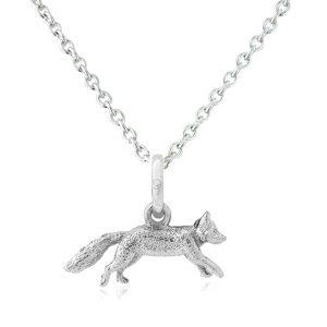 Silver Mr Fox Pendant