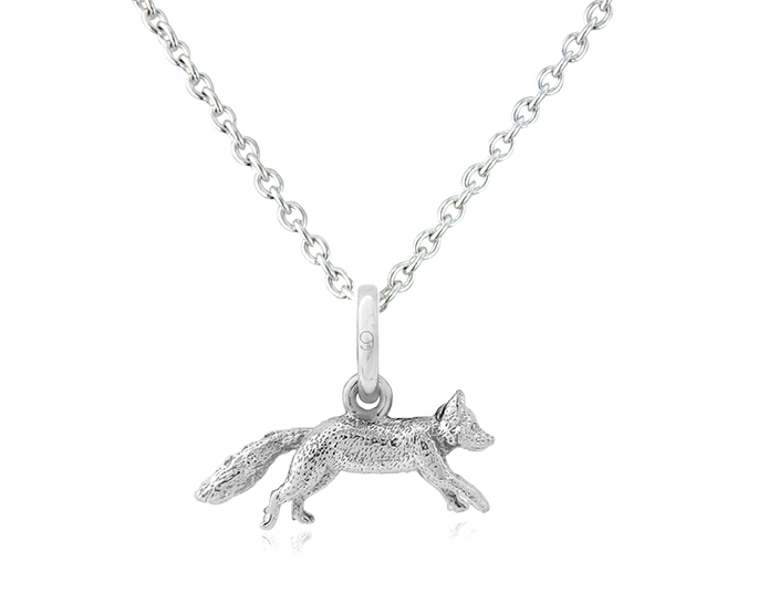 Silver Mr Fox Pendant