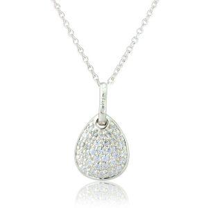Sparkly pebble pendant