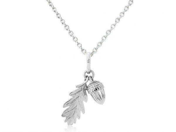 Acorn and Leaf Pendant