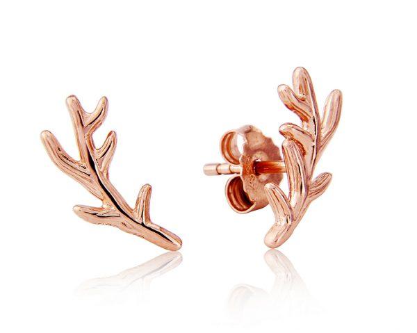 Stag Antler Studs