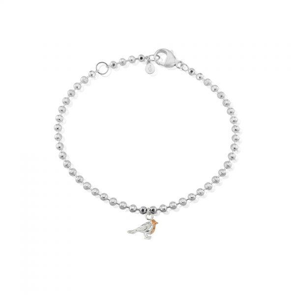 beaded robin bracelet