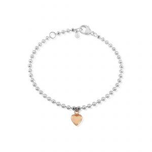 Beaded loveheart bracelet