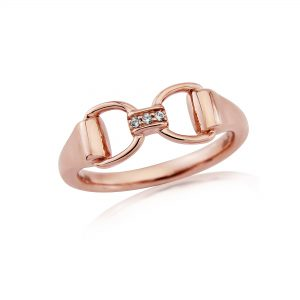 Rose Gold Sparkly Bit Ring