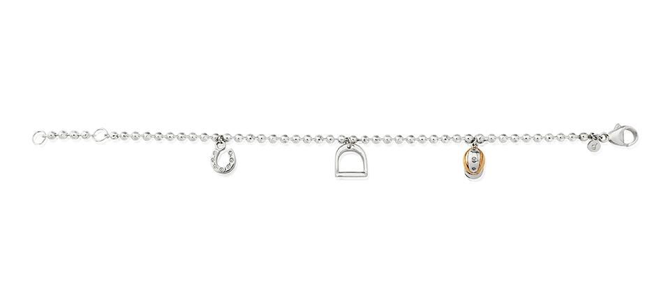 beaded equestrian bracelet