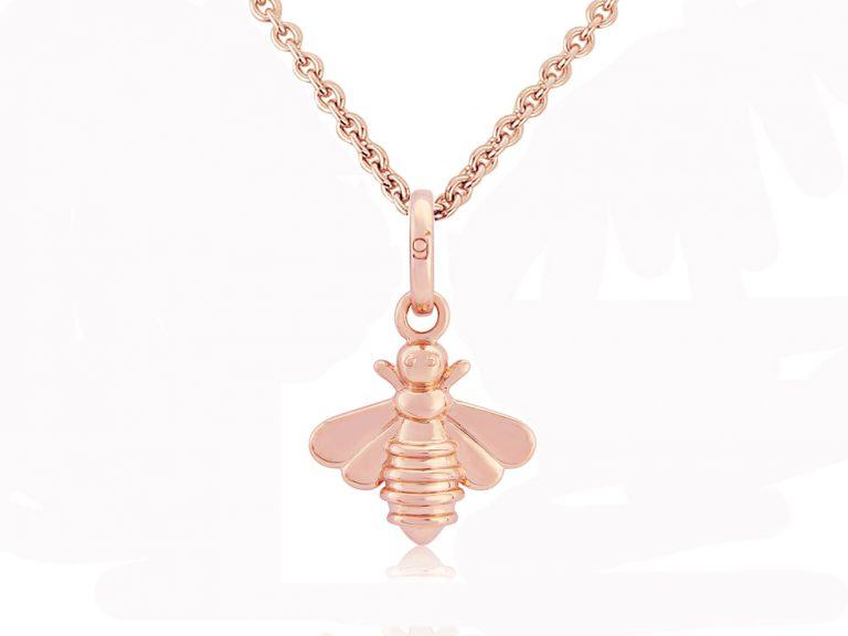 rose gold bee pendant