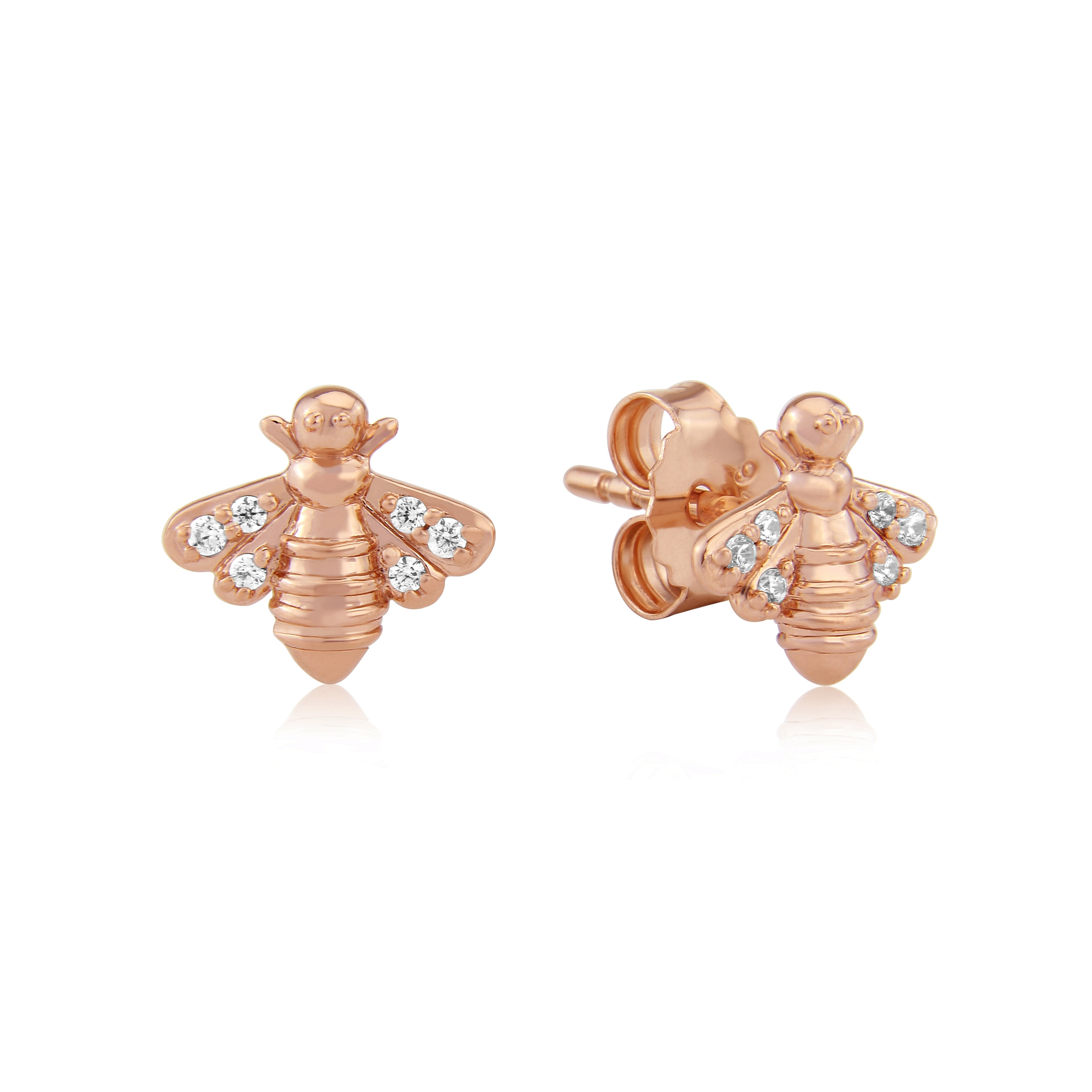 stud bee honey earrings plated in metallic gold jewelry lyst fullscreen monroe view alex