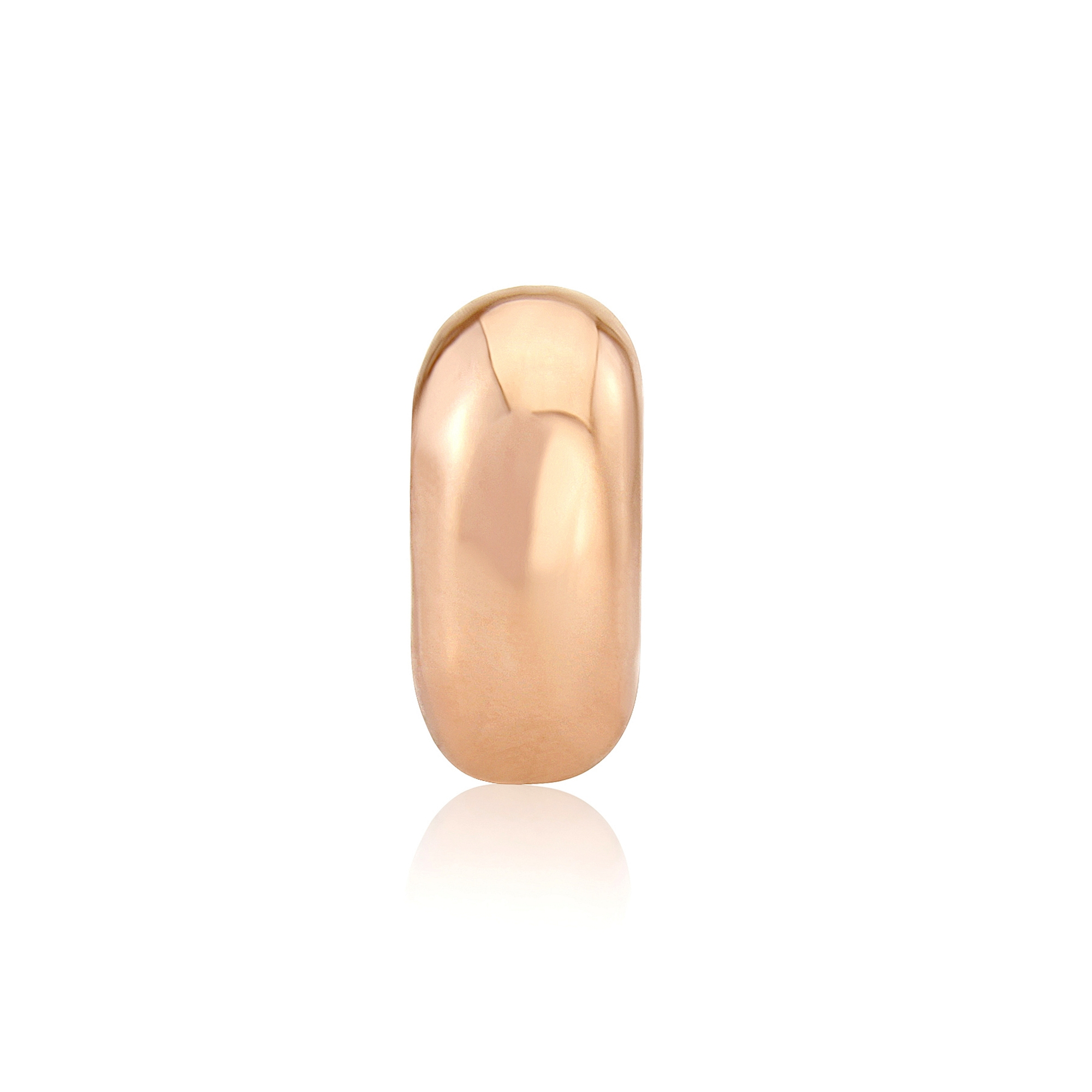 rose gold stopper bead