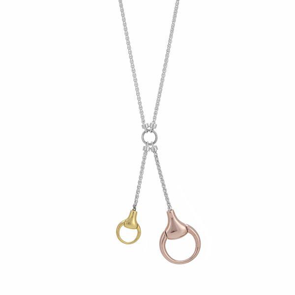 Snaffle Drop Necklace