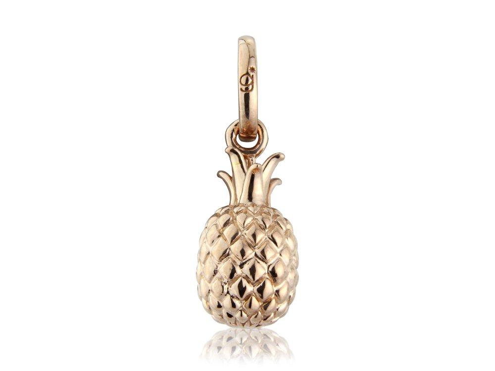 Rose Gold Pineapple Charm