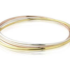 Three Tone Russian Wedding  Bangle