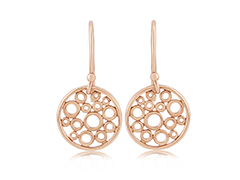 Rose Gold Floating Bubble Earrings