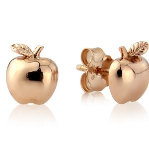 Rose Gold Apple Studs