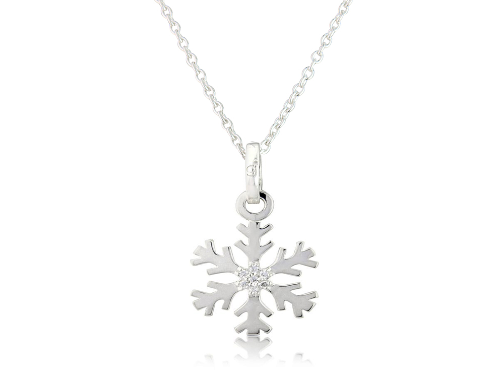 winter cz necklace holiday jewelry bling az hsh snowflake pendant large