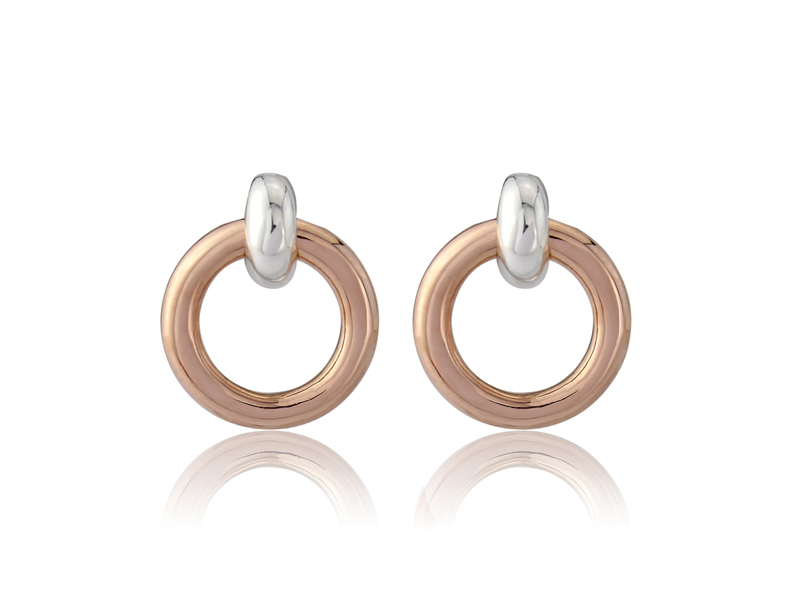 Rose Gold Eternity Studs