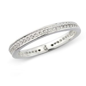 Sparkly Eternity Band Ring
