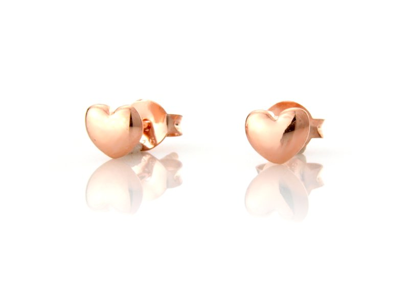 Rose Gold Sweetheart Studs