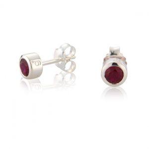 Garnet CZ Earrings ( January )