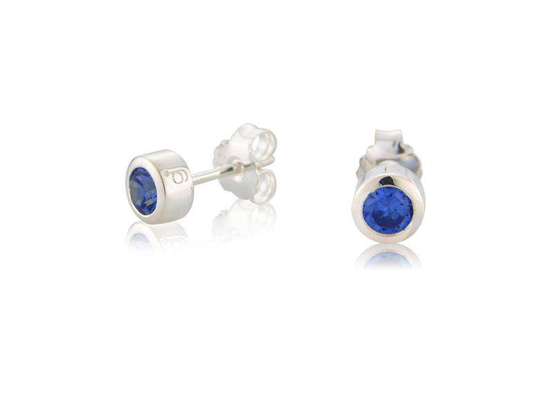 Sapphire CZ Earrings (September)