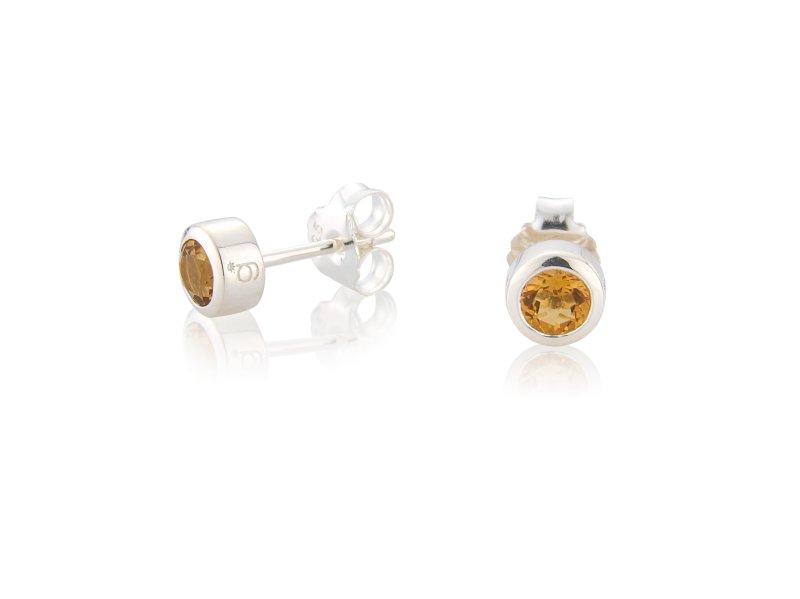 Citrine CZ Earrings (November)