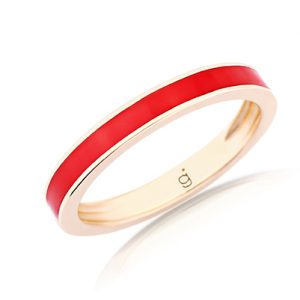Red Rose Gold Band