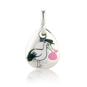 Pink Stork Pebble