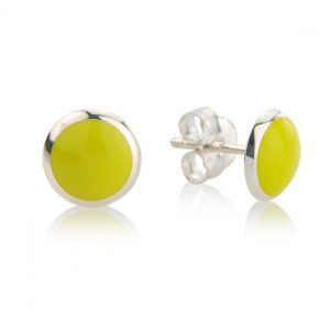 Loopy Frooty Lemon Yellow Studs