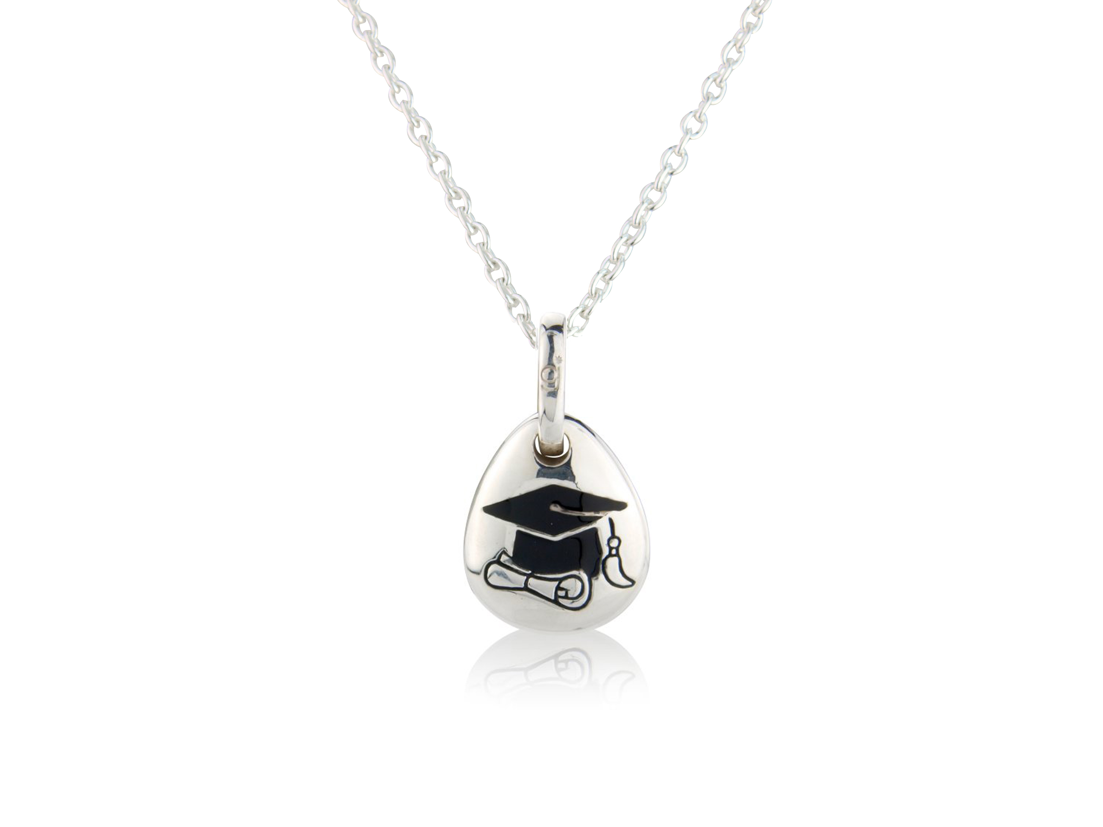 Graduation Pebble Pendant
