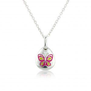 Butterfly Pebble Pendant