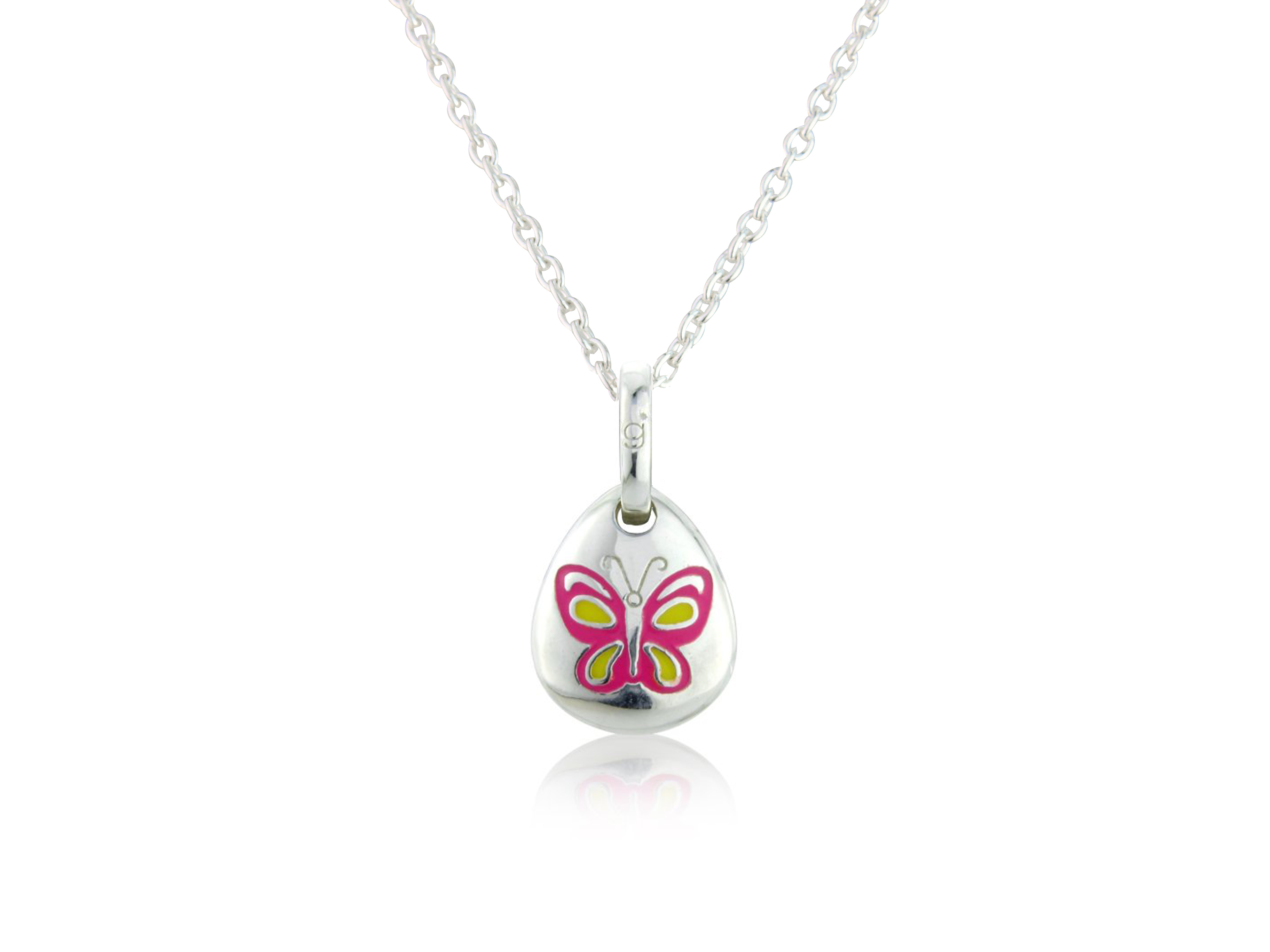 Butterfly Pebble Pendant