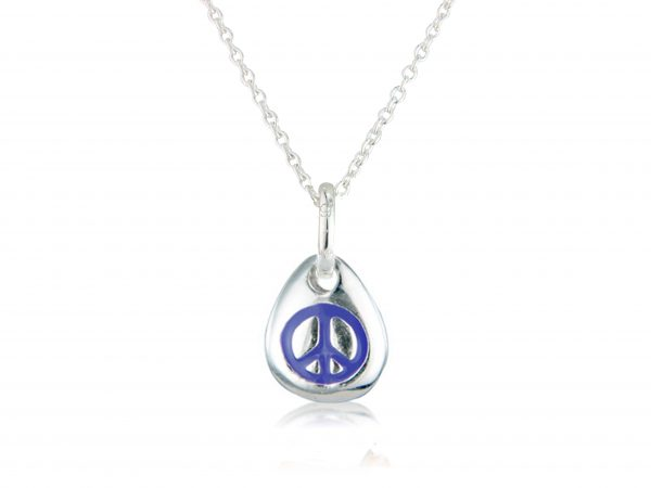 Peace Pebble Pendant