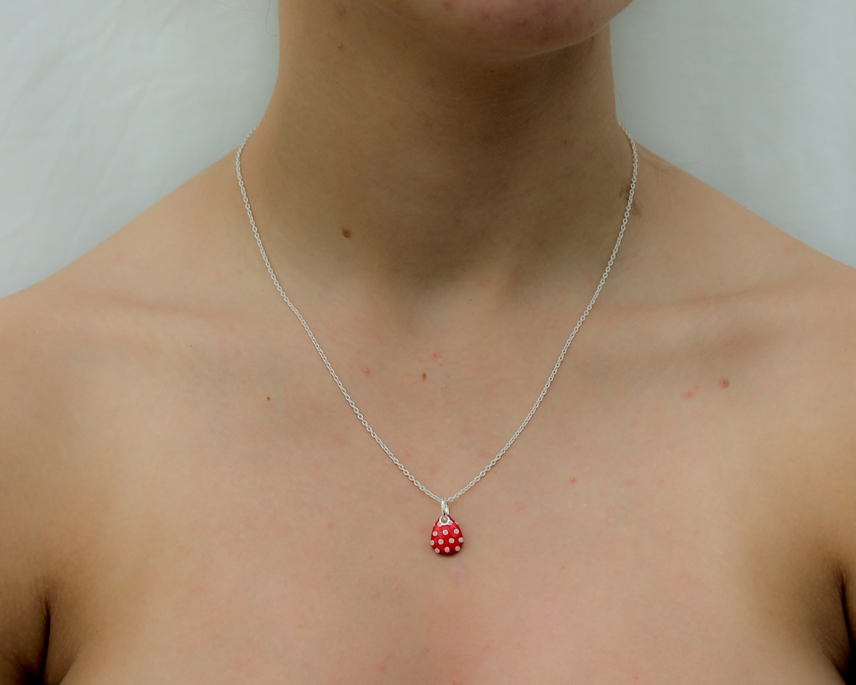 Polka Dot Pebble Pendant