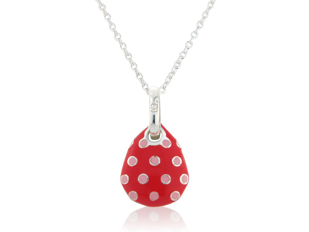 Polka Dot Pebble Pendant