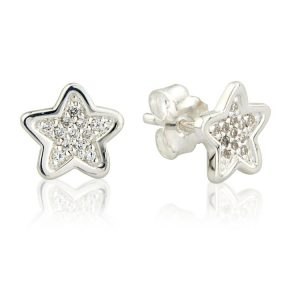 Sparkly Star Stud Earrings