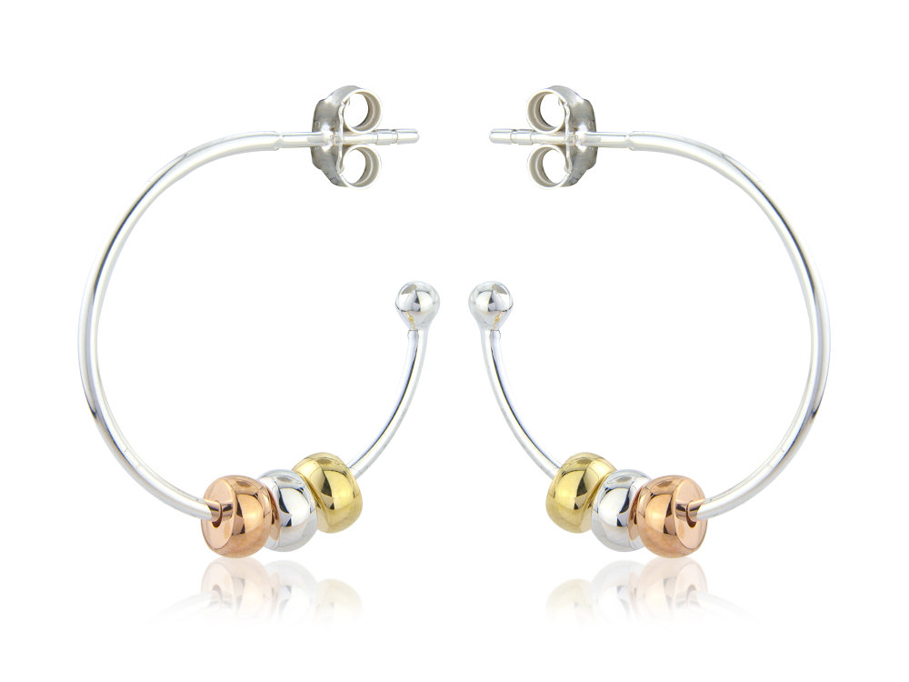 Harmony Beaded Hoop Earrings