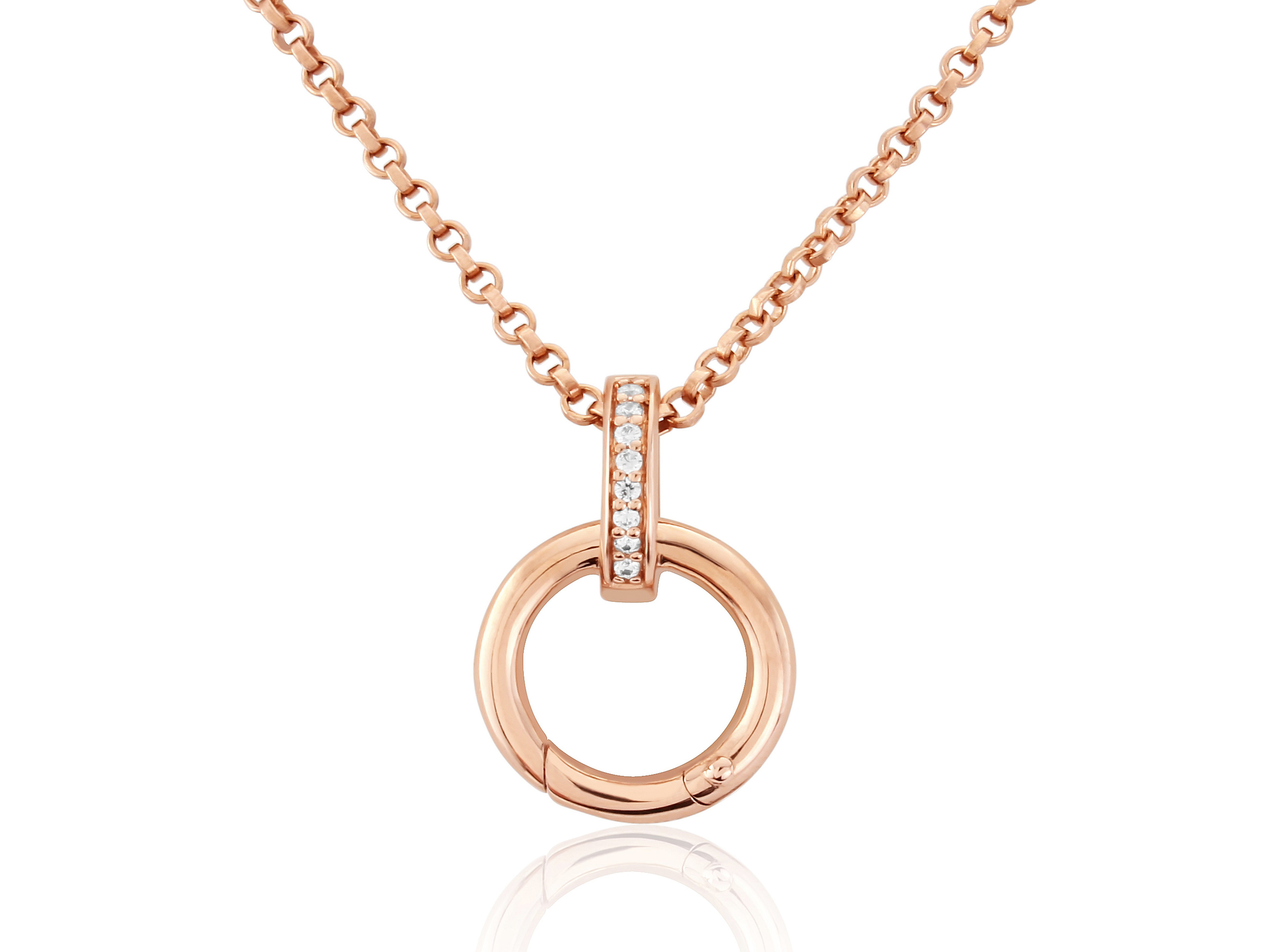 Rose Gold Charm Carrier Pendant