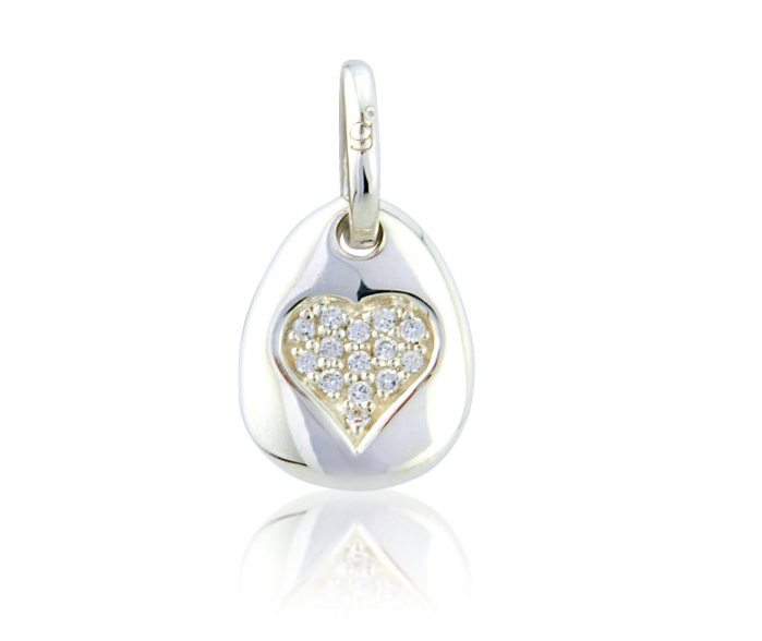 Sparkly Heart Pebble