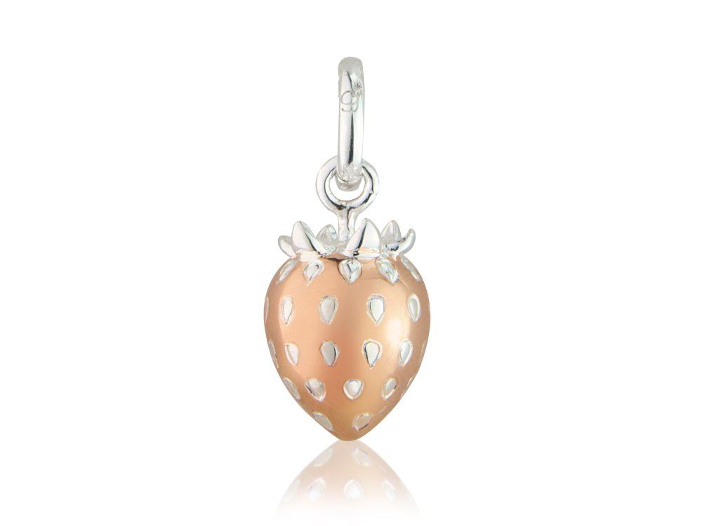 Rose Gold Strawberry Charm