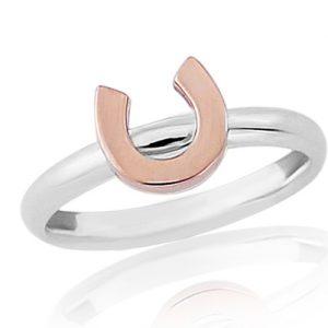 Rose Gold Horseshoe Ring