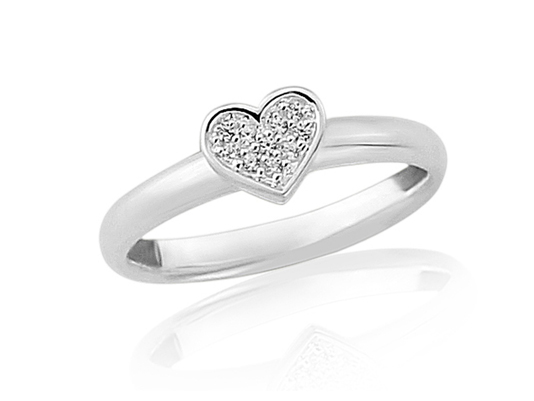 Sparkly Heart Ring